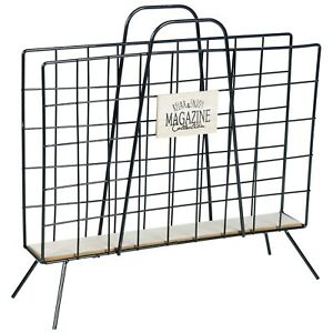 Metal Magazine Newspaper Rack Holder Organiser Floor Stand Office Storage Rustic