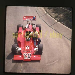 Gordon Johncock #20 @ 1975 USAC California 500 - Vintage 35mm Race Slide 11423