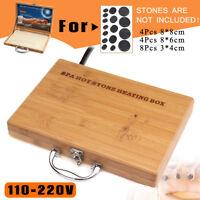 Hot Stone Massage Heater Box Case For 16x Lava Spa Rock Basalt Stones Body SPA