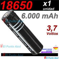 Pila 18650 Recargable ★ 6000.mAh - Li-ion ★ 3,7 voltios ★ Rechargeable Battery