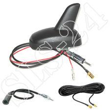 DAB+ AM/FM aktiv Shark Dach Antenne schwarz 12V SMB Anschluss+ 5m Antennenkabel