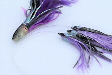 Tuna Feather and Squid Teaser Daisy Chain Rigged for Mahi, Wahoo, Sailfish Lures