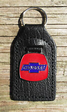 CHEVROLET CLASSIC CAR KEY RING, LEATHER FOB.