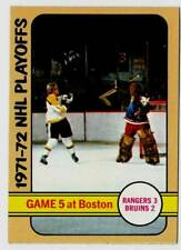 1972-73 Topps NHL Playoffs GAME 5 at Boston (ex) Villemure