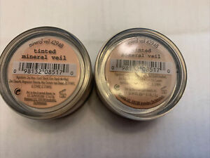 2x BARE ESCENTUALS bare Minerals * TINTED MINERAL VEIL 3g * finishing powder NEW