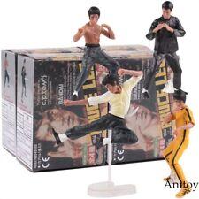 4x Action Figuren Bruce Lee Film Figur Sammeln Karate Kampf Selten Fan Spielzeug