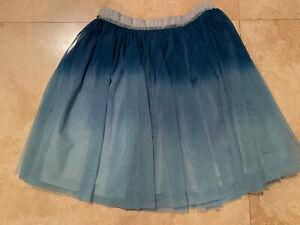 EUC~GARNET HILL KIDS~BLUE HUES SHEER SKIRT WITH LINING~SIZE XL