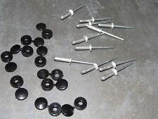 10 caches rivets noir + rivets Pop plaque immatriculation plexi ou alu NEUFS