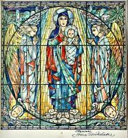 John Reinert Nickelsen (1865-1950) Aquarell, Glasfensterentwurf Madonna mit Kind