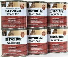 (6) Rust-Oleum Ultimate Wood Stain One Coat 271565 Cabernet 8 Oz Dry In 1 Hr