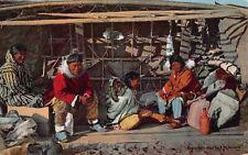 Postcard Eskimo Using Skin Boat as a House, Alaska~127798