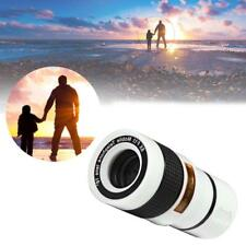 White 8X Zoom Magnifier Optical Telescope Camera Lens w/Clip for Mobile Phone BC