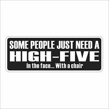 3M Graphics high-five in the face Funny Car Truck Decal Sticker Helmet Decor