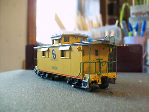 BRASS DIVISION POINT AJIN C&O 4 WINDOW COUPLA CABOOSE NIB FP LATE 50'S YELLOW