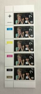 A left vertical control strips of 5 stamps stamps from RSA, Christmas Stamp Fund