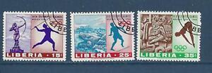LIBERIA - 483-485; 489-496- USED - 1968-69 - MEXICO OLYMPICS & PAINTINGS