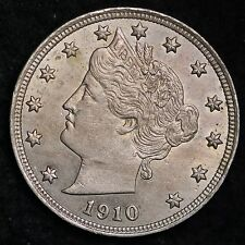 1910 Liberty V Nickel CHOICE BU FREE SHIPPING E185 BT