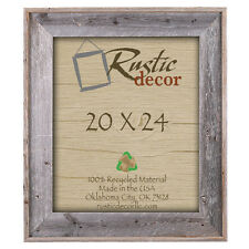 "20x24 - 4"" Wide Premium Reclaimed Rustic Barn Wood Wall Frame"