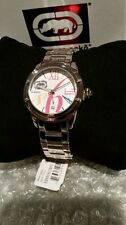 Rhino by Marc Ecko Silver tone Pink Orange Teal Multicolored Watch NEW WITH TAG