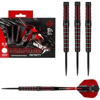 Harrows Wolfram Infinity 97% Tungsten Steel Tip Darts - Black Titanium Coating