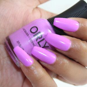 Orly Scenic Route - Vibrant Bright Pinkish Purple Orchid Creme Cream Nail Polish