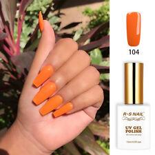 RS Nail Gel Nail Polish UV LED Sequined Varnish Soak Off UV Gel Orange Colour