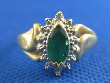 VINTAGE 10K YELLOW GOLD EMERALD RING SIZE 6 1/2