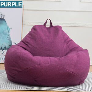 Large Gamer Bean Bag Chairs Seat Couch Sofa Cover Indoor Lazy For Adults Kids