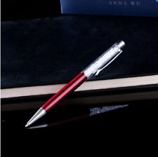 Fashion SWAROVSKI Element Crystal Pens with Anna Wu Collection Gift Case RED PEN