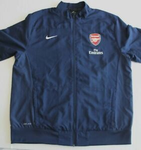 Arsenal/Fly Emirates Nike Dry-Fit Presentation/Sideline Jacket Navy w/Red XL