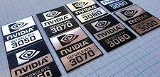 nVidia RTX Sticker Emblem Set (2 emblems) - RTX 3050 RTX 3070 RTX 3080 RTX 3090