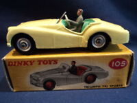 Dinky 1950's Rare Triumph TR2 Sports Car No: 105 MINT Ex Shop Stock
