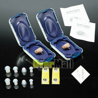 2x Mini Hearing Aids Small In the Ear Amplifier Sound Mini Set Adjustable 2020