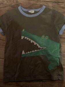 Mini Boden Boys Short Sleeve T Shirt Size 5-6 Alligator Crocodile Green Blue