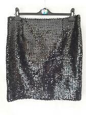 Black Sequin Short Tube Skirt Ladies Size 16 18 Handmade