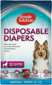 """LM-Simple Solution Disposable Diapers-Medium - 12 Count - (Waist 16.5""""-21"""")"""
