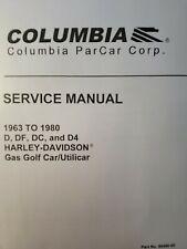 New Listingharley Davidson Columbia D Df Dc D4 Gasoline Golf Cart Service Repair Manual