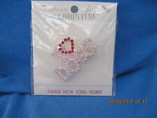 BEAUTIFUL CHRISTINE'S Silver & Crystal 'I LOVE DOGS' Pin....6883