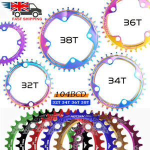 96/104BCD 32-52T Bike Chainring MTB Chain Ring Narrow Wide Oval Round Tooth