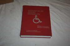 Handbook of Severe Disability US Dept Education Walter Stolov & Michael Clowers