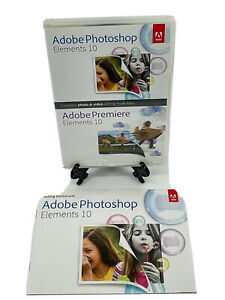 Adobe Photoshop Elements 10 for PC MAC with Serial Number 5 Discs & Manual EUC