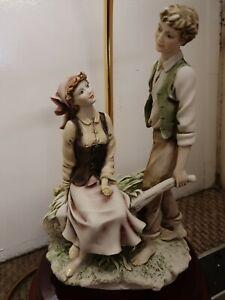 "Vintage Giuseppe Armani Porcelain ""Florence "" Figurine Lamp Base"