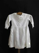 Antique Victorian Girls Day Dress - Linen & Crochet Lace - Hand Stitched  c1870