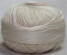 Lizbeth Cordonnet 100% Egyptian Cotton Thread Size 20 Color 610 Cream