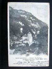 SWITZERLAND~Suisse ~ 1906 SAINT-MAURICE (VS) ~Chateau et Pavilloon ~ La Grotte