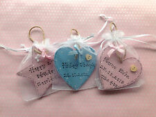 Personalised Hand Painted Wooden Keepsake Gift Birthday New Baby Mum Christening