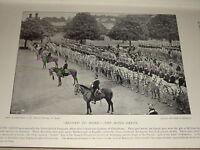 1895 The Scots Greys On Desfile Gris Caballos Troops Montado Norte British