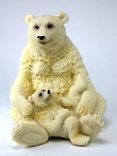 Polar Bear Baby Figurine Carved Arctic Wild Endangered Animal