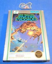ALPHA MISSION Nintendo NES CIB Complete Cart: Cleaned/ Tested