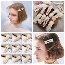 Fashion Women Pearl Long Barrette Hair Clip Stick Hairpin Hair Accessories Gift